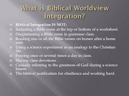 biblical integration is not including a bible verse at the top