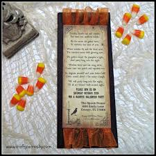 Old Halloween Poems Homemade Halloween Birthday Invitations Clean Bachelorette Party