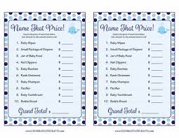 name that price baby shower game whale baby shower theme for
