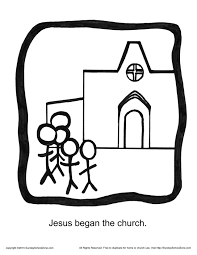 jesus began the church story icon coloring page god u0027s unfolding