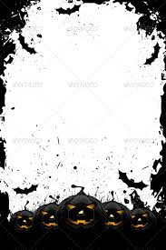 grungy halloween frame with pumpkins and bats by vvad graphicriver