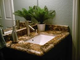 Bathroom Countertops And Sinks Bathroom Vanity Countertops Colonial White Granite With Dark