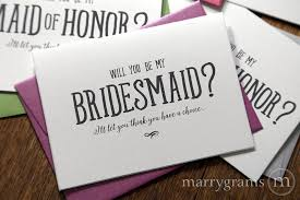 bridesmaid cards wedding card choice be my bridesmaid cards