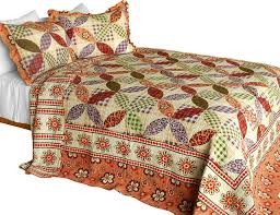 magic of love 3pc cotton contained patchwork quilt set full queen