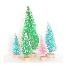 wish season miniature bottle brush trees package of 5