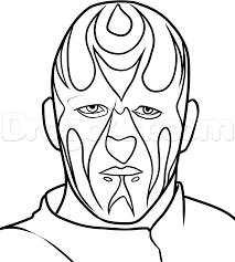 coloring pages kids vector of a cartoon big wrestler in the ring