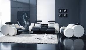 black living room set white leather modern 3pc t17 image 1280 742