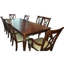 grange round wood dining table w 4 chairs aptdeco