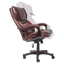 Leather Desk Chair by Serta Eco Friendly Bonded Leather Executive Big U0026 Tall Office