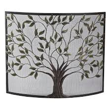 fireplace screens pleasant hearth selene 1 panel fireplace screen