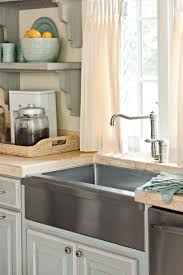 Kitchen Sink With Backsplash Farmhouse Sinks With Vintage Charm Southern Living