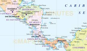Central America Map With Capitals by Large Digital Vector Map Of Central America And The Caribbean In