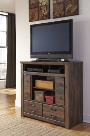 buy quinden media chest fireplace optional by signature design quinden media chest fireplace optional