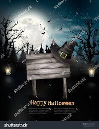 creepy halloween background scary halloween background wooden sign vector stock vector