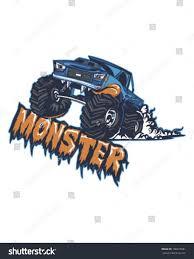 monster trucks races cartoon cars monster truck stock vector 108272681 shutterstock