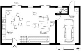 plan etage 4 chambres plan maison à étage avec garage ooreka