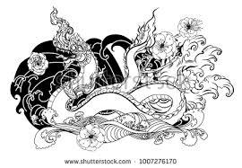 naga tattoo thailand thai traditional tattoo design naga king stock vector hd royalty