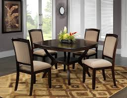 country style double pedestal dining table set in pine and black