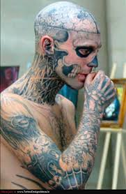 extreme tattoo on neck in 2017 real photo pictures images and