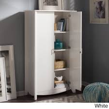 Entryway Storage Furniture by Bush Furniture Aero 2 Door Tall Storage Cabinet By Bush Furniture