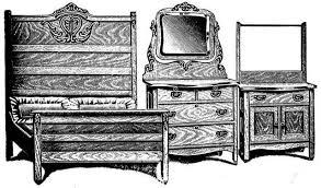 antique golden oak three piece bedroom suite at antique furniture us