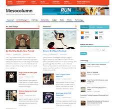 mesocolumn responsive free wordpress theme for community