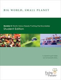 big world small planet module 4 wants versus needs pushing