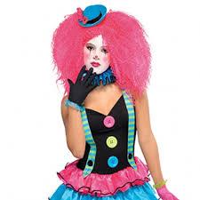 Halloween Neon Costume Girls Teen Cool Clown Costume Circus Fancy Dress Party Halloween