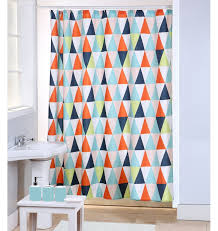 Geometric Pattern Curtains Geometric Triangles Pvc Shower Curtain With 12 Plastic Hooks