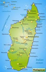 Madagascar Map Map Of Madagascar As An Overview Map In Green Royalty Free