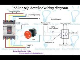 shunt trip breaker wiring diagram in urdu u0026 hindi how to