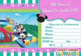 mickey mouse clubhouse birthday invites digital download girly mickey mouse clubhouse birthday party