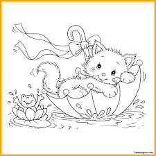 coloring page of a kitty best cute kitten coloring page printable pict of inspiration and