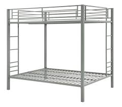 dhp furniture full over full metal bunk bed silver