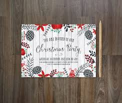 printable christmas party invitations christmas invitation printable christmas party invitation rustic