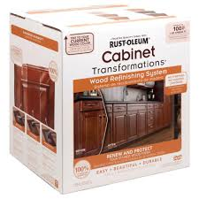 paint or stain kitchen cabinets rust oleum transformations cabinet wood refinishing system kit