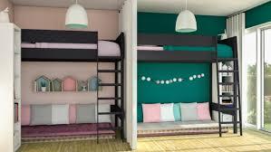 amenager une chambre avec 2 lits idee pour separer une chambre en deux 08217618 photo le rideau les 2
