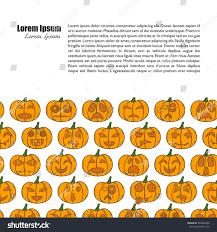 orange halloween background vector illustration cartoon hand drawn background stock vector