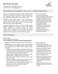 sample resume for freshers on manual testing professional