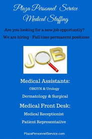 Front Desk Jobs Hiring by Check Out Our Newest Job Openings Plaza Personnel Service