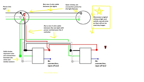 one way light one way switch connection 3 light wiring diagram two function 2 4