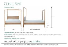 Super King Size Bed Dimensions The Oasis Modern Canopy Bed 4 Poster Natural Bed Company