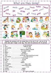 english worksheet present continuous continous pinterest