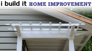 Pergola Rafter End Designs by How To Make A Pergola Youtube