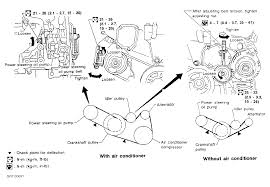 nissan altima water pump 2000 nissan altima serpentine belt routing and timing belt diagrams