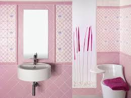 bathroom pink color female simple wall room deep ceramic