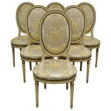 Louis Seize Chair Set Of Six Louis Xvi Style Cane Back Dining Chairs For Sale At 1stdibs