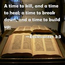 time to build ecclesiastes 3 3 a time to kill and a time to heal a time to