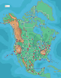 Real World Map by The Map Of North America If Pokemon Were Real Imgur