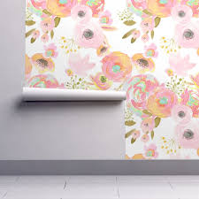 Temporary Wallpaper Tiles by Watercolor Floral Wallpaper Rainbow Florals By Indy Bloom Design